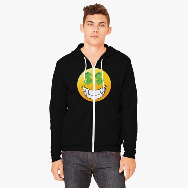 Buy Emoji Money Unisex Zip-Up Hoodie, 224189