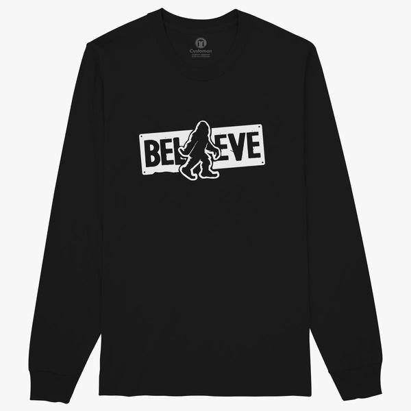 f6bc216f Believe Big Foot Sasquatch Bigfoot Long Sleeve T-shirt - Customon