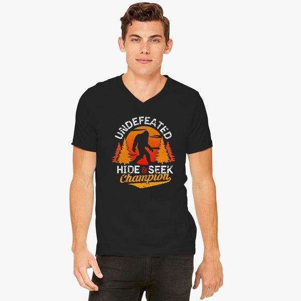 4bb4591c Bigfoot Hide and Seek Champion Of The World V-Neck T-shirt ...
