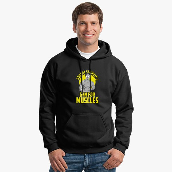 fa77e97a Dwight Schrute gym muscles Unisex Hoodie - Customon