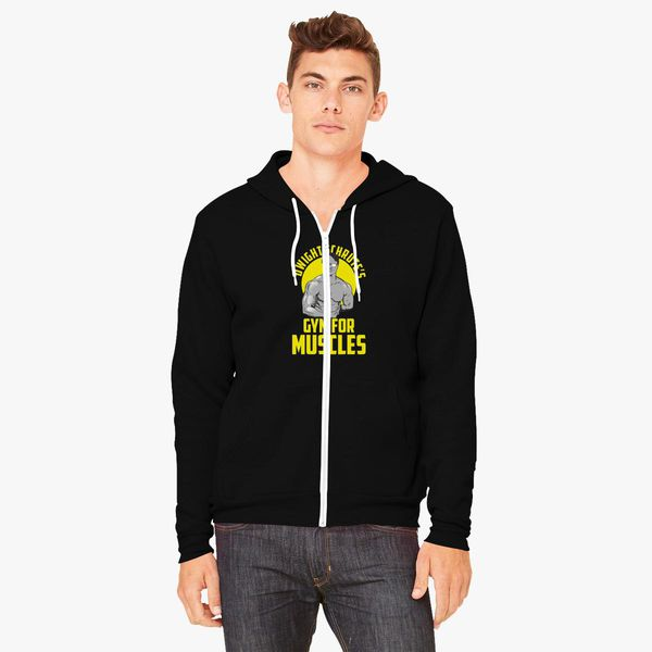 d3ea03fc Dwight Schrute gym muscles Unisex Zip-Up Hoodie - Customon