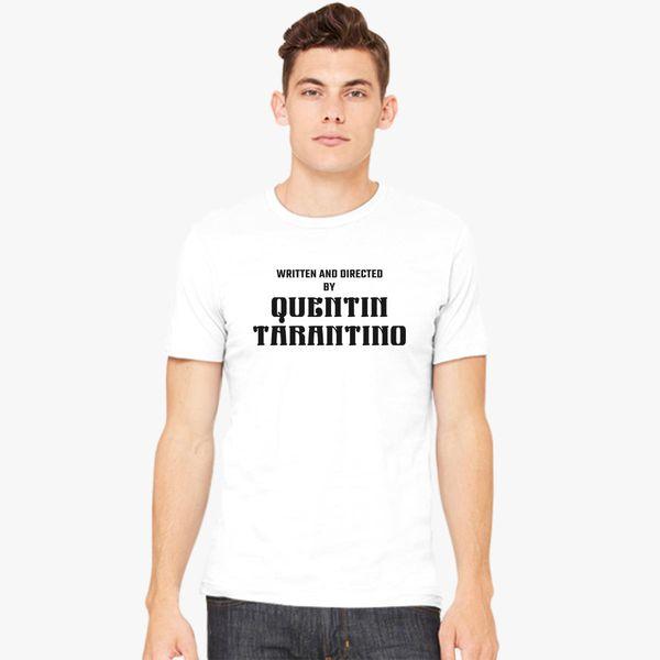 135b0b1a4 Written and Directed by Quentin Tarantino Men's T-shirt - Customon
