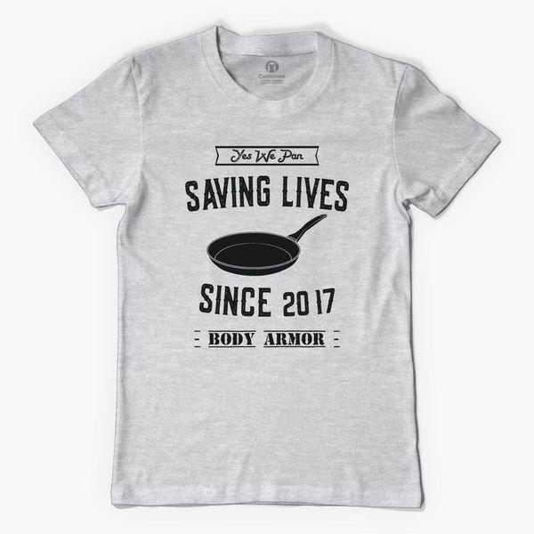 PUBG Pan Saving Lives Since 2017 Meme Funny T-Shirt Black 100/% Cotton S-XL Size