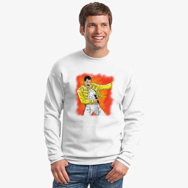 fa669dbf01d88 freddie mercury Crewneck Sweatshirt - Customon