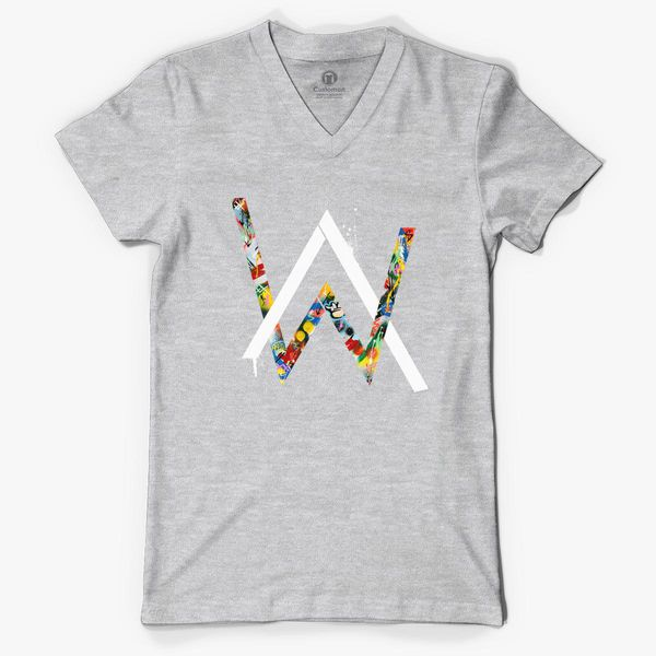 e5a8409e Alan Walker V-Neck T-shirt - Customon