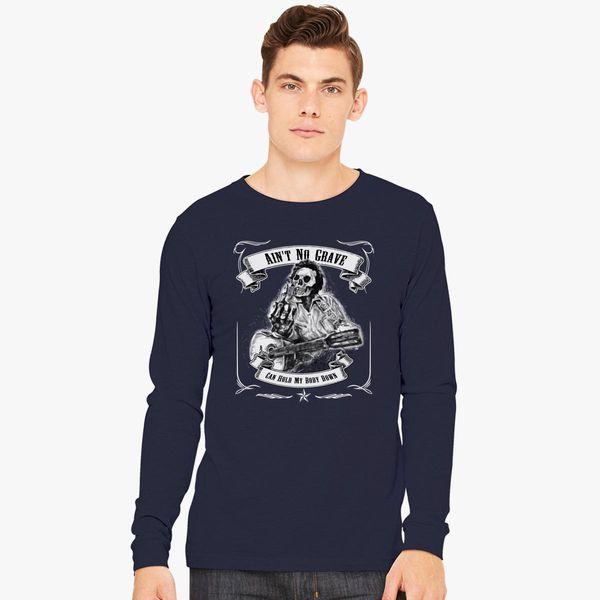 87281cda JOHNNY CASH AIN'T NO GRAVE Long Sleeve T-shirt - Customon
