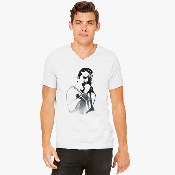 1186f1198 FREDDIE MERCURY we will rock you V-Neck T-shirt - Customon
