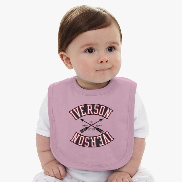 size 40 ad227 55fb3 ALLEN IVERSON Baby Bib - Customon