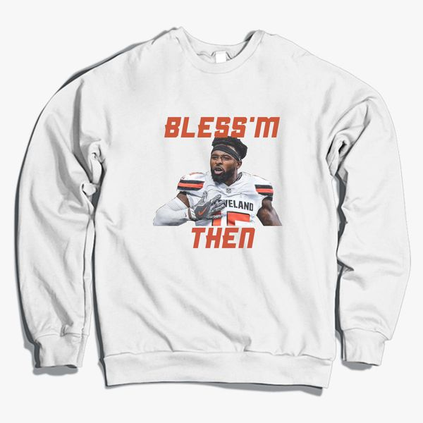 new styles d17e1 52720 Jarvis Landry Bless'm Then Quote Crewneck Sweatshirt - Customon