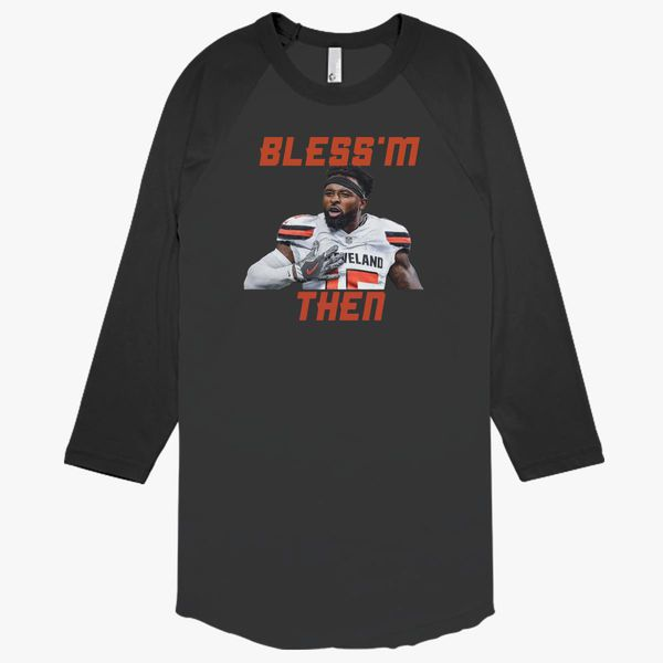 finest selection 47a04 932b5 Jarvis Landry Bless'm Then Quote Baseball T-shirt - Customon