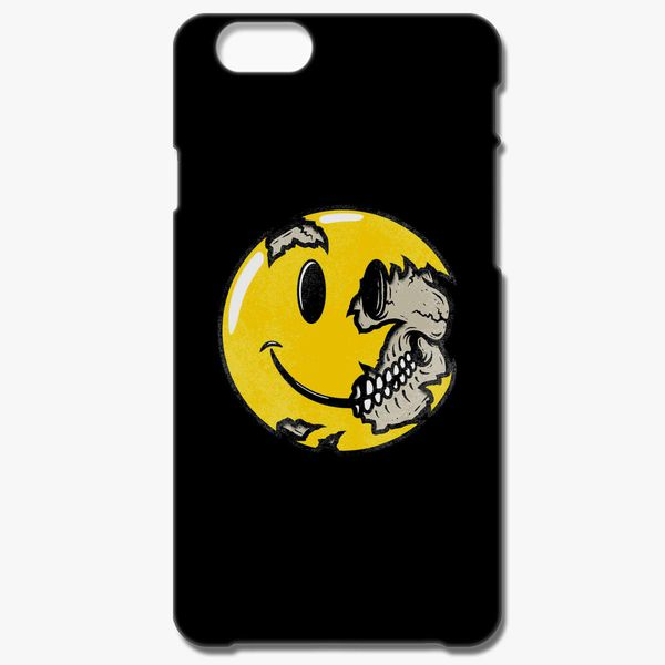 Smiley face skull iphone case