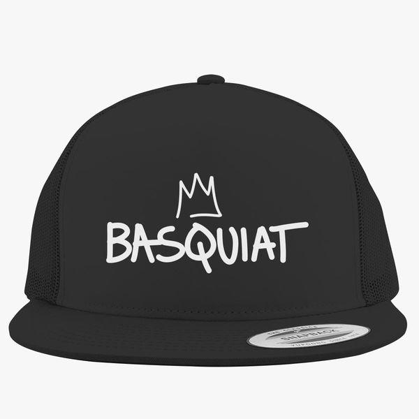 9f93f834 Basquiat Logo Crown Trucker Hat | Customon.com