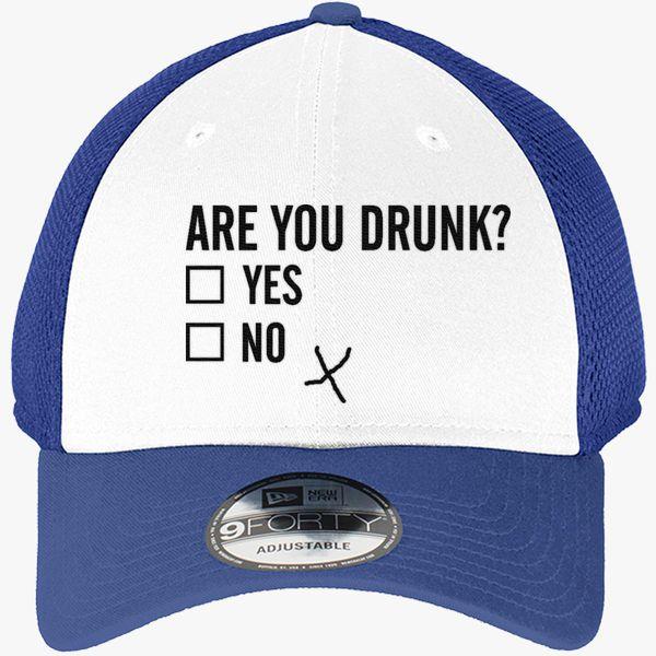 b1fba4f2d Are you drunk? New Era Baseball Mesh Cap (Embroidered) - Customon