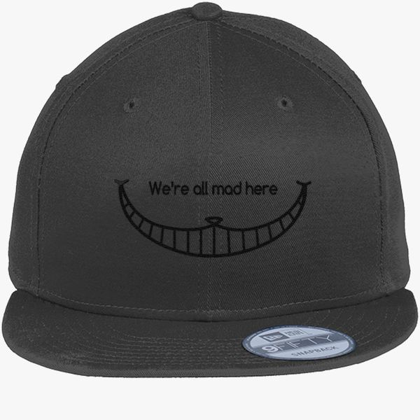 We are all mad here - Cheshire Cat New Era Snapback Cap (Embroidered ... ee93c331eaf