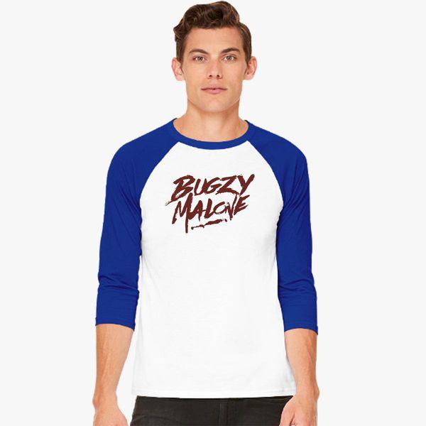 13cdadaff8bef bugzy malone logo Baseball T-shirt - Customon