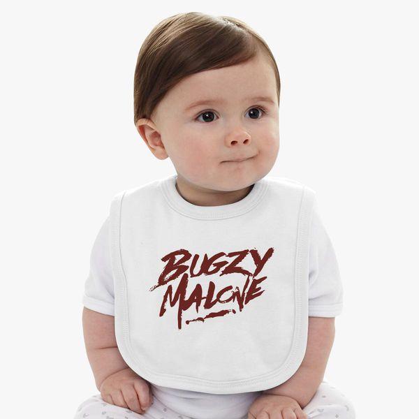 52f4dc07e1fa0 bugzy malone logo Baby Bib - Customon