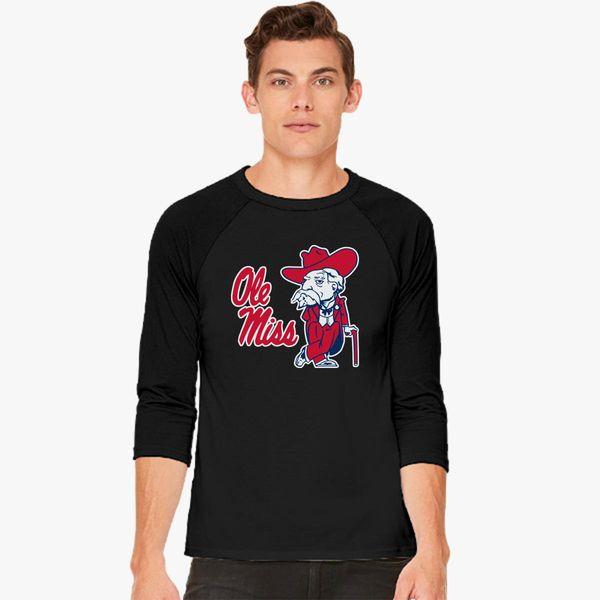 180869ab ole miss rebels Baseball T-shirt - Customon