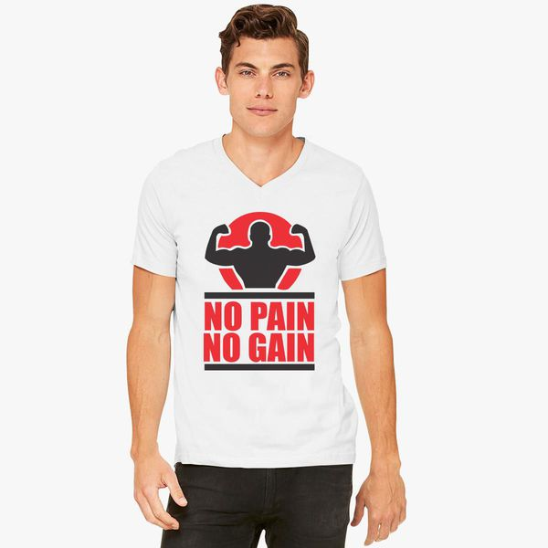 Buy Pain Gain V-Neck T-shirt, 258153