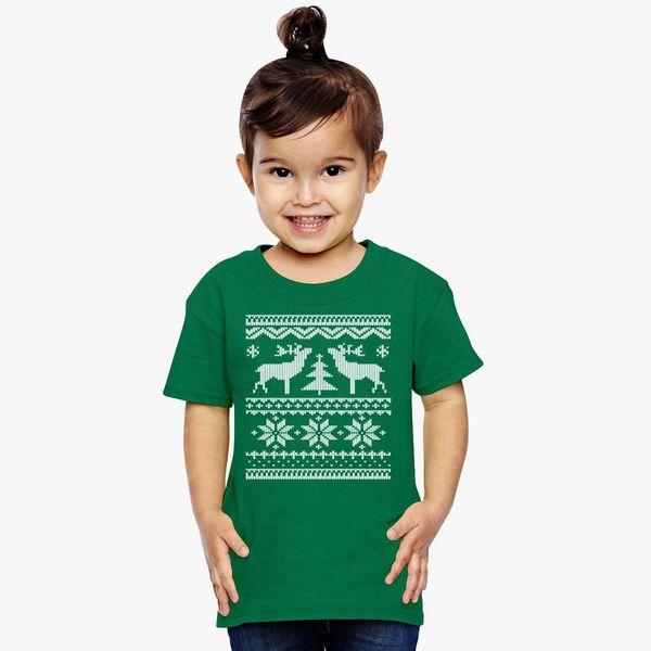 Ugly Christmas Sweater Toddler T Shirt Customoncom