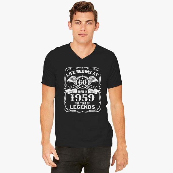 Born In 1959 60th Birthday Gift V Neck T Shirt