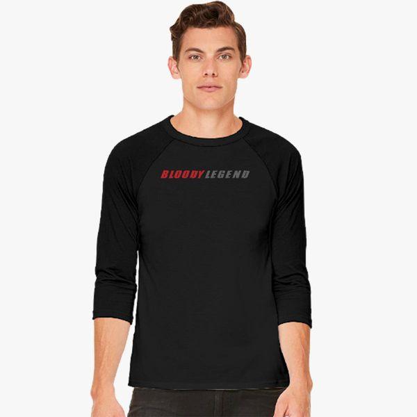 4c51fdd5 lazarbeam bloody legend Baseball T-shirt - Customon