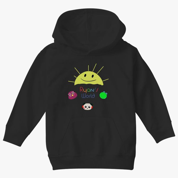 Boys Girls Ryans World YouTube Toy Review Hooded Sweatshirt Kids Cute Cartoon Long Sleeve Jumper Children Shirts Sweater Pullover Tops Clothing Clothes Merchandise Ryans World Hoodie