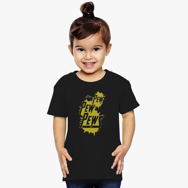 Pew Pew Logo Toddler Short Sleeve Kids T-Shirt Baby//Toddler//Little Kid