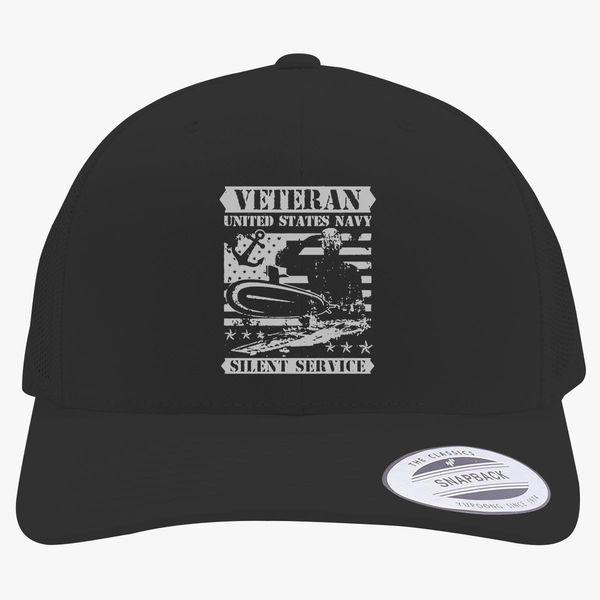 b5fe1129647 ... cap embroidered bill b37e5 bb93a  promo code for veteran us navy retro  trucker hat customon 79ef7 8c265