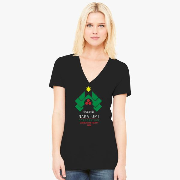 4a70013c2 Nakatomi Corporation - Christmas Party Women's V-Neck T-shirt ...