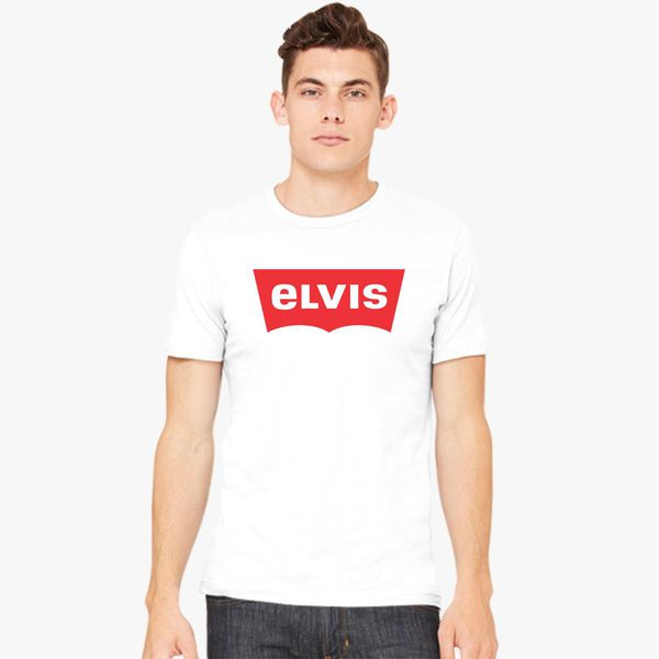 2a9a6cd398 ELVIS - Levis Style Logo Men s T-shirt - Customon