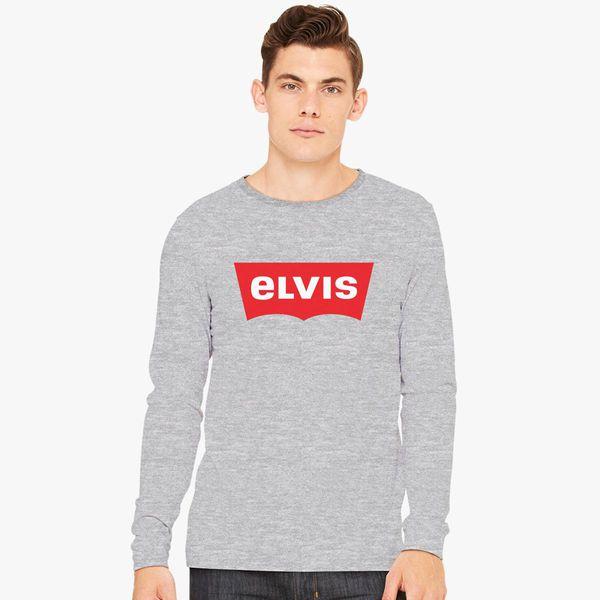 f3b47ca3503ae ELVIS - Levis Style Logo Long Sleeve T-shirt - Customon