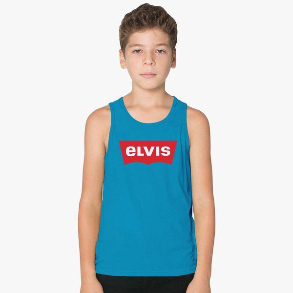 758206cd1febd ELVIS - Levis Style Logo Kids Tank Top - Customon