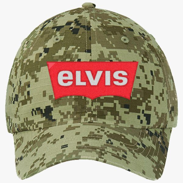 ELVIS - Levis Style Logo Ripstop Camouflage Cotton Twill Cap (Embroidered)   471ae3260446