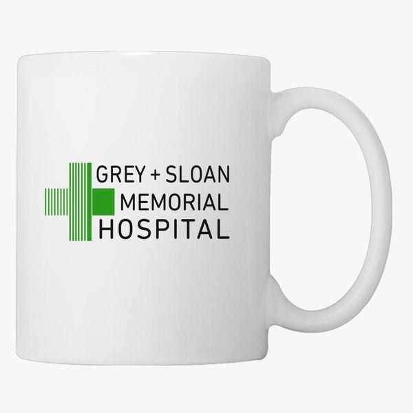 Memorial Coffee Grey Mug Sloan Customon Hospital htrsCQd
