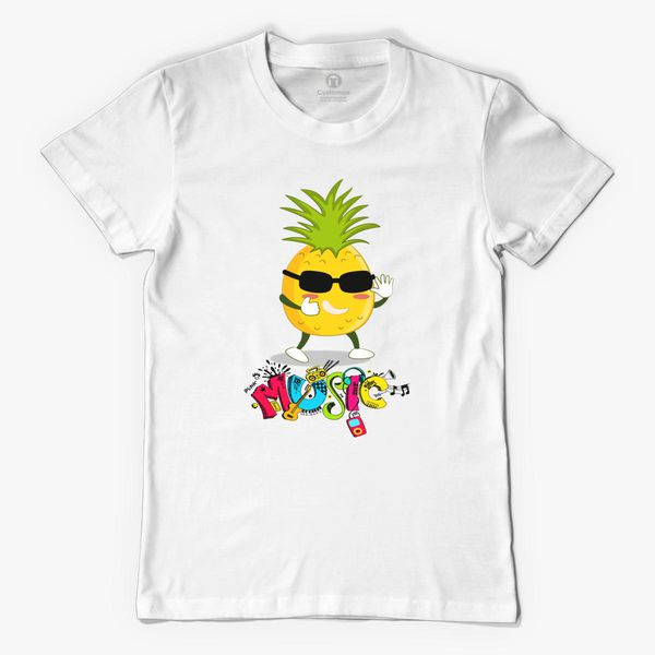 Funny Pineapple Music Dancer Men's T shirt Customon