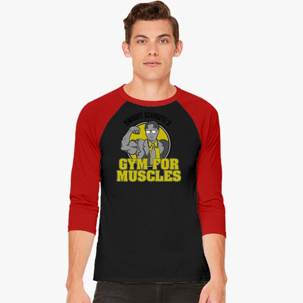 457b3103 Dwight Schrutes Gym Baseball T-shirt - Customon