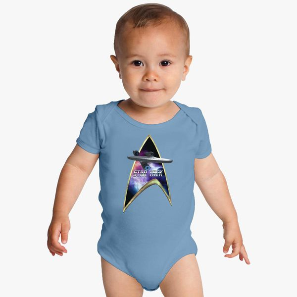 a5f6101a8 StarTrek Command Silver Signia Enterprise 09 Goldtinge Baby Onesies -  Customon
