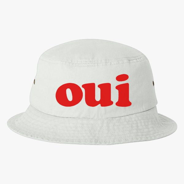 b9c39882521 oui - red Bucket Hat (Embroidered) - Customon