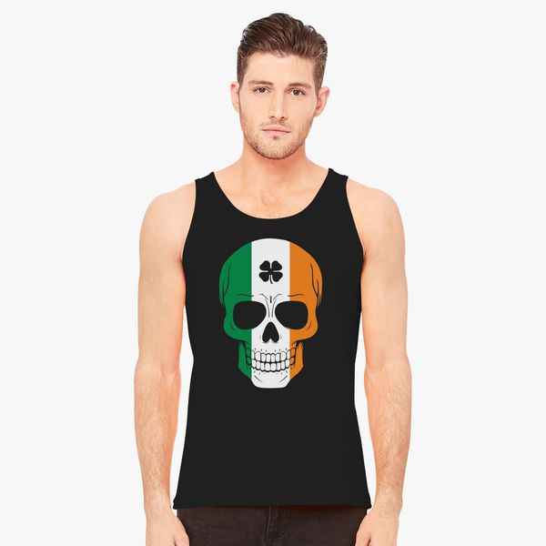 26bd5d508 Irish Skull St. Patricks St Patty's Day Men's Tank Top - Customon