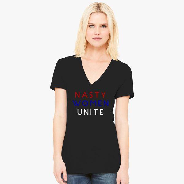ebac6c1a Nasty Women Unite Women's V-Neck T-shirt - Customon