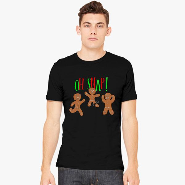f03fbf9a5 Oh Snap Funny Christmas Ginger Bread Man Cookie Men's T-shirt ...