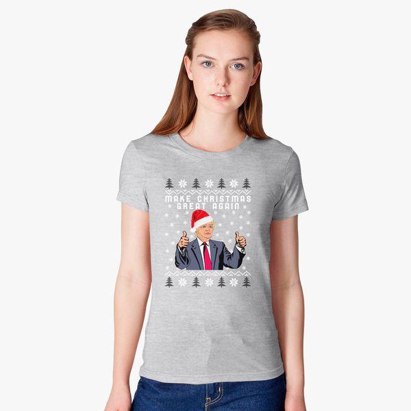 cc7e2cdb8 TRUMP Make Christmas Great Again Women's T-shirt - Customon