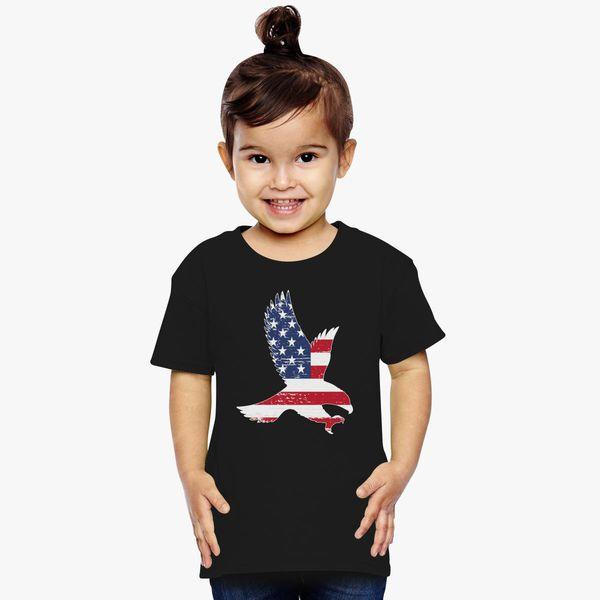American Flag Heart Stars Strips USA Toddler Raglan 3//4 Sleeve Baseball Tee