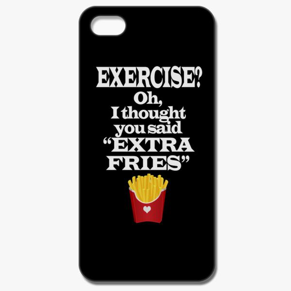 the best attitude 3b912 f41db Exercise Extra Fries Funny Gym Anti-Workout iPhone 8 Case - Customon