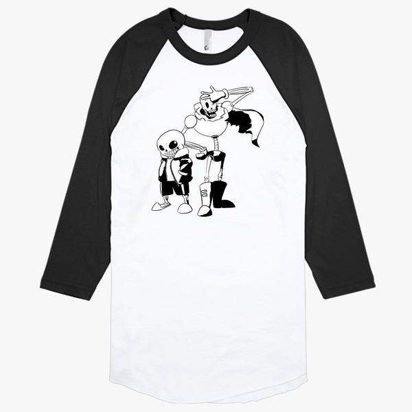 Sans And Papyrus Undertale Baseball T Shirt Customon - wd gaster shirt id roblox