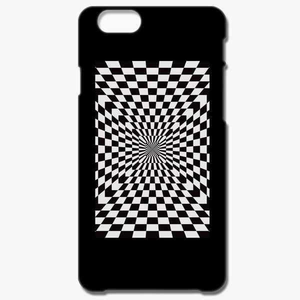 newest f2388 4a6db Checkered Optical Illusion iPhone 7 Plus Case - Customon