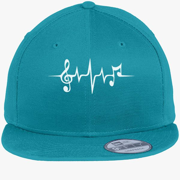 c642cff99 Music Pulse, Notes, Clef, Frequency, Wave, Sound, Dance New Era Snapback  Cap (Embroidered) - Customon