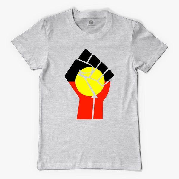 Raised Fist - Aboriginal Flag Men's T-shirt - Customon