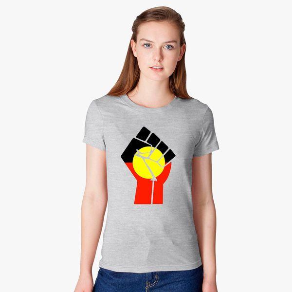 Raised Fist - Aboriginal Flag Women's T-shirt - Customon
