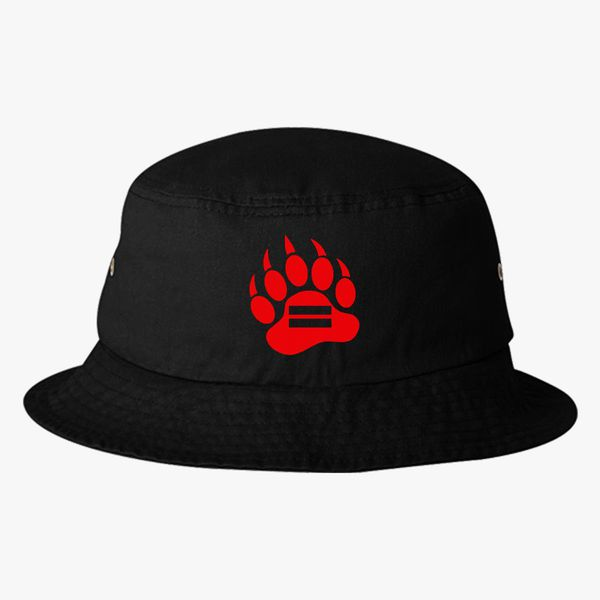 3a378713 Red Bear Paw Bucket Hat (Embroidered) - Customon